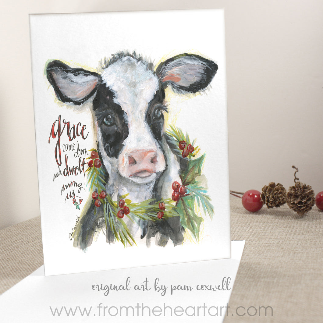 Christmas Cow Cards (pack of 6)  (Farewell)
