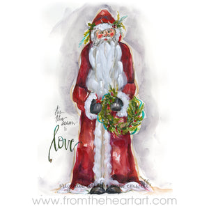 Christmas Santa Love - Ornament