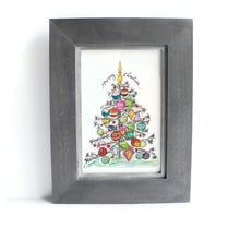Christmas Ornament Silver Tree