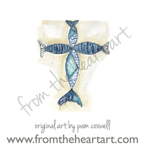 Blue Fish Cross