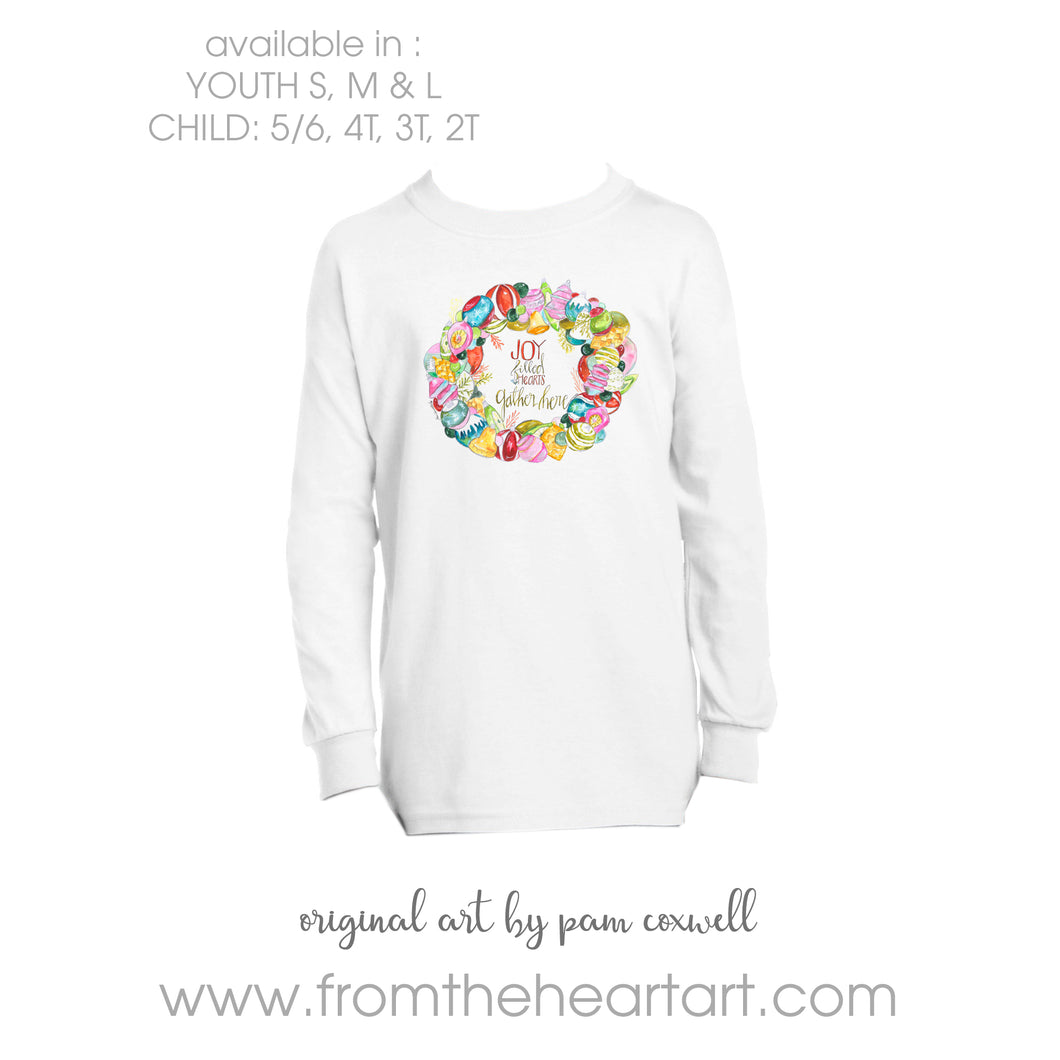 Christmas Ornament Wreath Child/Youth T-shirt