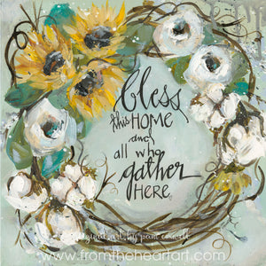 Bless Home Gather Wreath