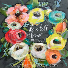 "Floral Wreath ""Be Still"""