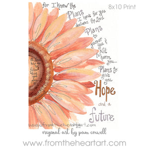 Daisy: Peach Hope {Jeremiah 29:11}