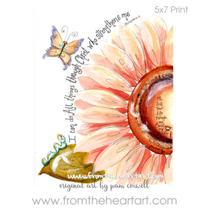 Daisy: Peach Strength {Phillipians 4:13}