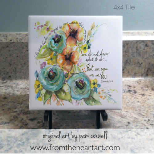 Floral:  Eyes on You (Farewell) - Notecards and Tiles