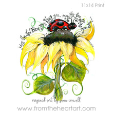 Floral:  Ladybug and Sunflower {Numbers 6:24-25}