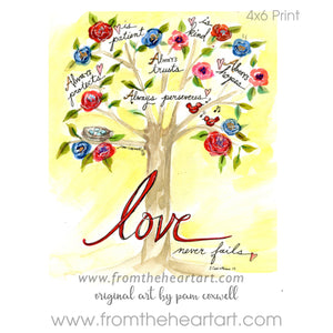 "Floral: Tree ""Love"""
