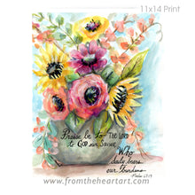 "Floral: Vase ""Burdens"" {Psalms 68:19}(Farewell)"