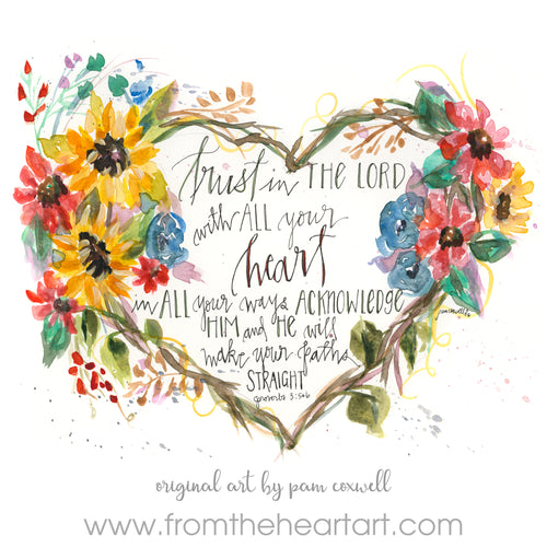 Floral Heart Trust Prov 3:5-6