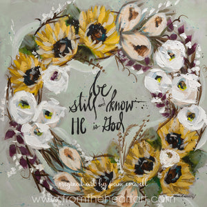 "Wreath Sunflower ""Be Still and Know"""