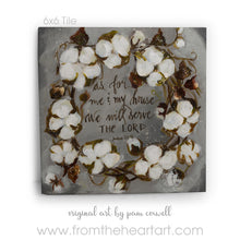 "Wreath Cotton ""As For Me and My House"""