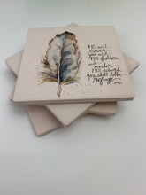 Feather - Ceramic Coasters - Set of 4