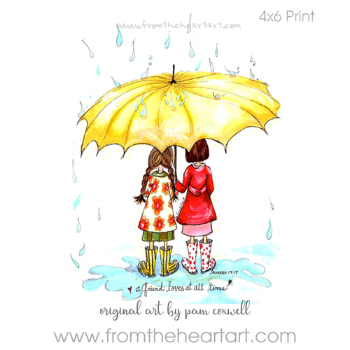 Friends with Umbrella {Proverbs 17:17} (Farewell)