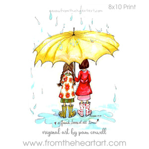 Friends with Umbrella {Proverbs 17:17}