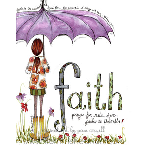 Faith Girl with Umbrella