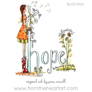 Hope Girl with Dandelions (Farewell)