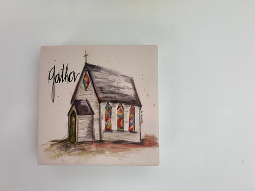 Gather Church - Ceramic Coasters - Set of 4