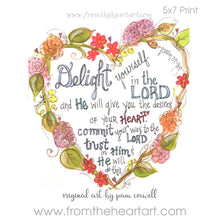 "Floral Heart ""Delight"" {Ps. 37:4-5}"