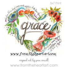 "Floral Heart:  ""Grace"" {Hebrews 4:16}"