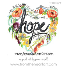 "Floral Heart:  ""Hope"" {Romans 15:13}"