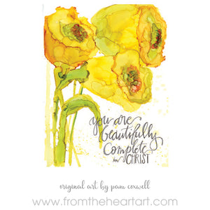 """You Are Beautifully Complete"" - Notecards"