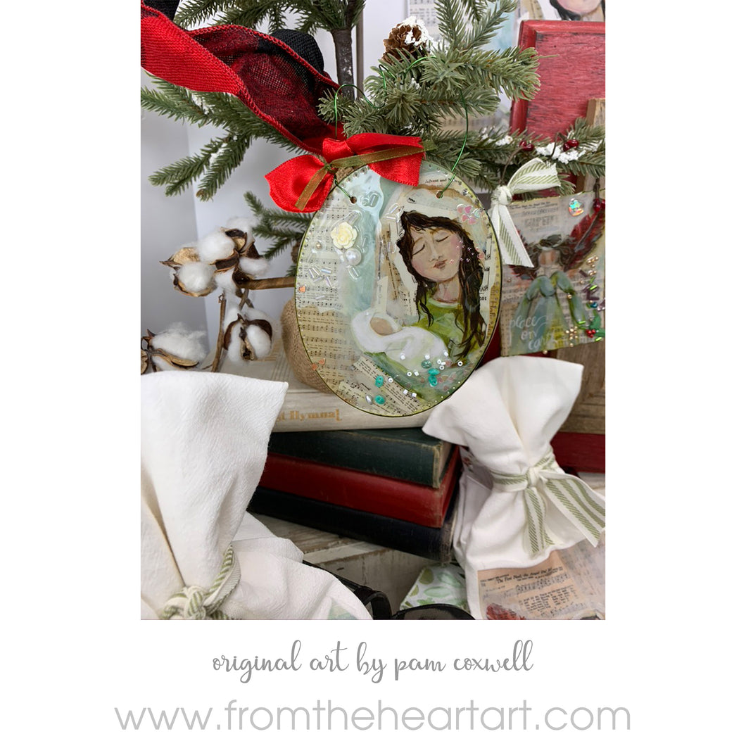 Christmas Hymnal - Mary - Ornament