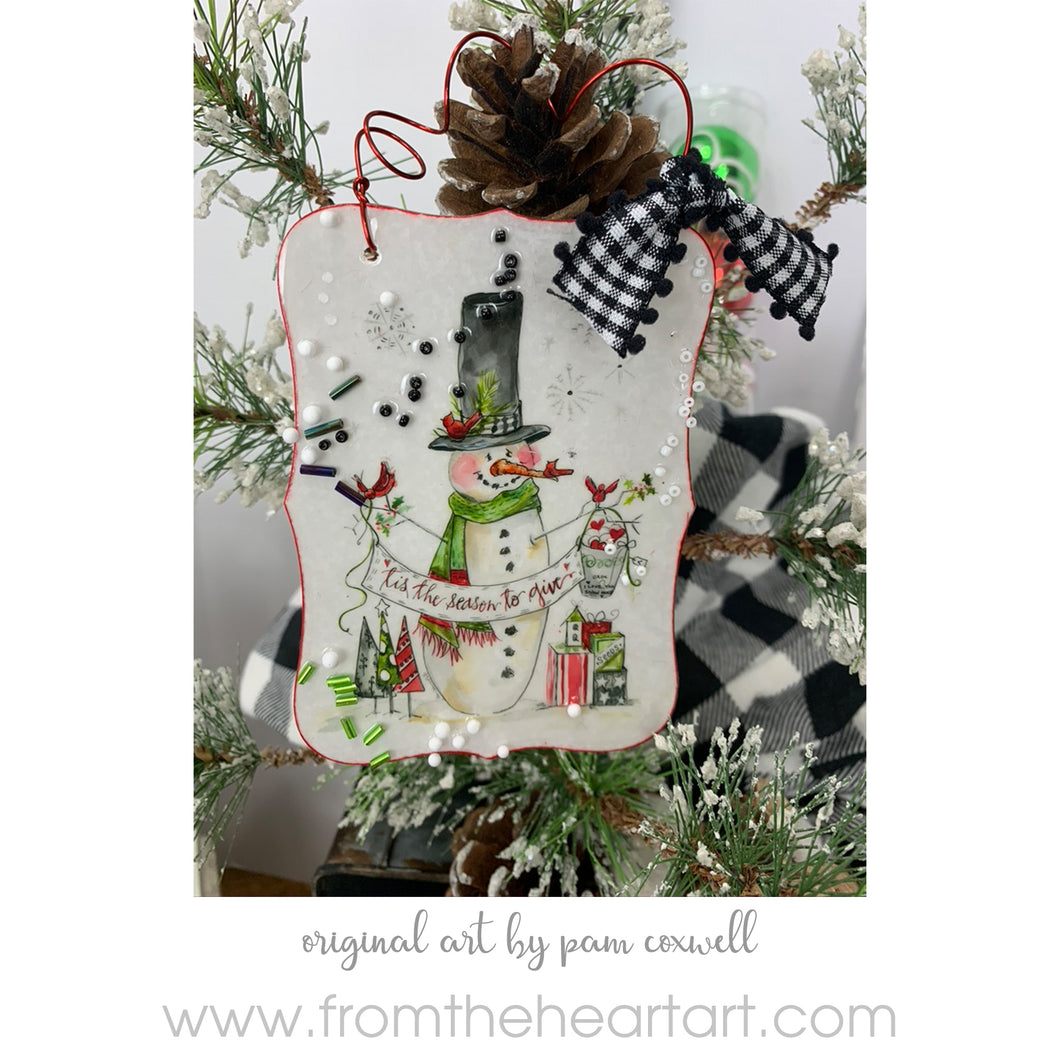 Snowman - Give - Ornament