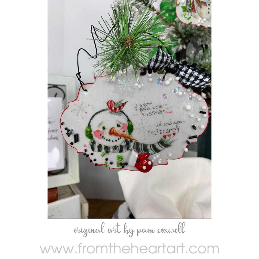 Snowman - Kisses - Ornament
