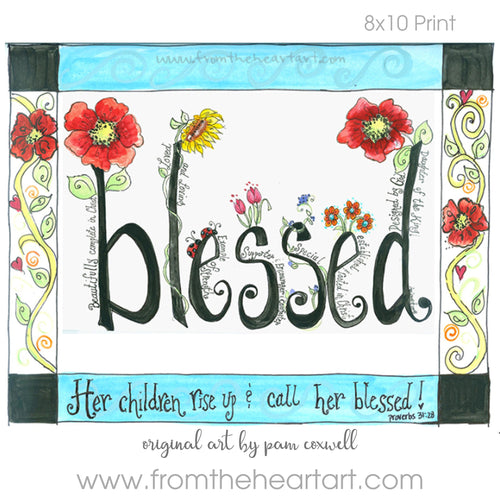 Blessed (with border)