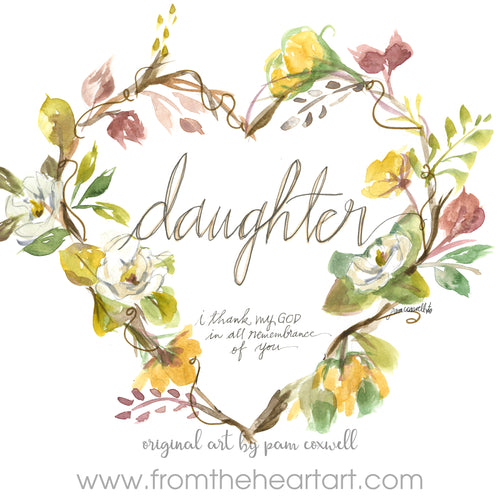 Daughter Heart Notecards
