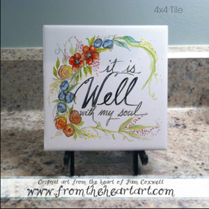 "Seaside Floral ""It Is Well"""