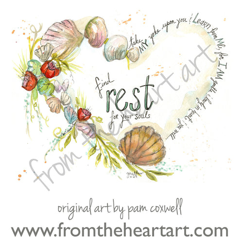 Shell Heart (Farewell) - Notecards