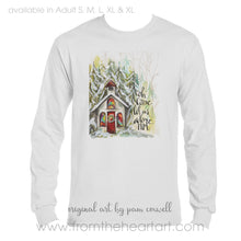 Christmas Chapel Adult T-shirt