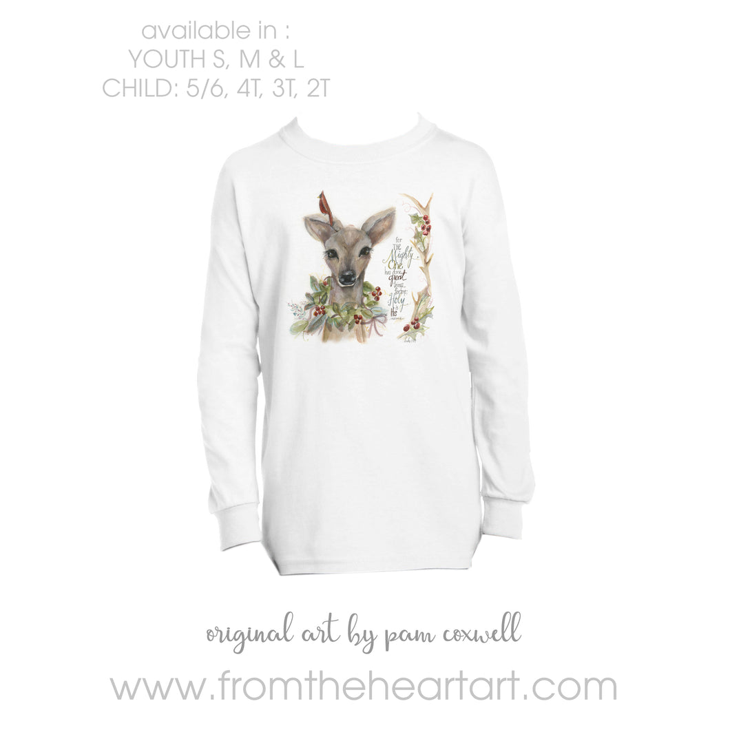 Christmas Deer Child/Youth T-shirt