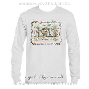 Holy Night Adult T-shirt
