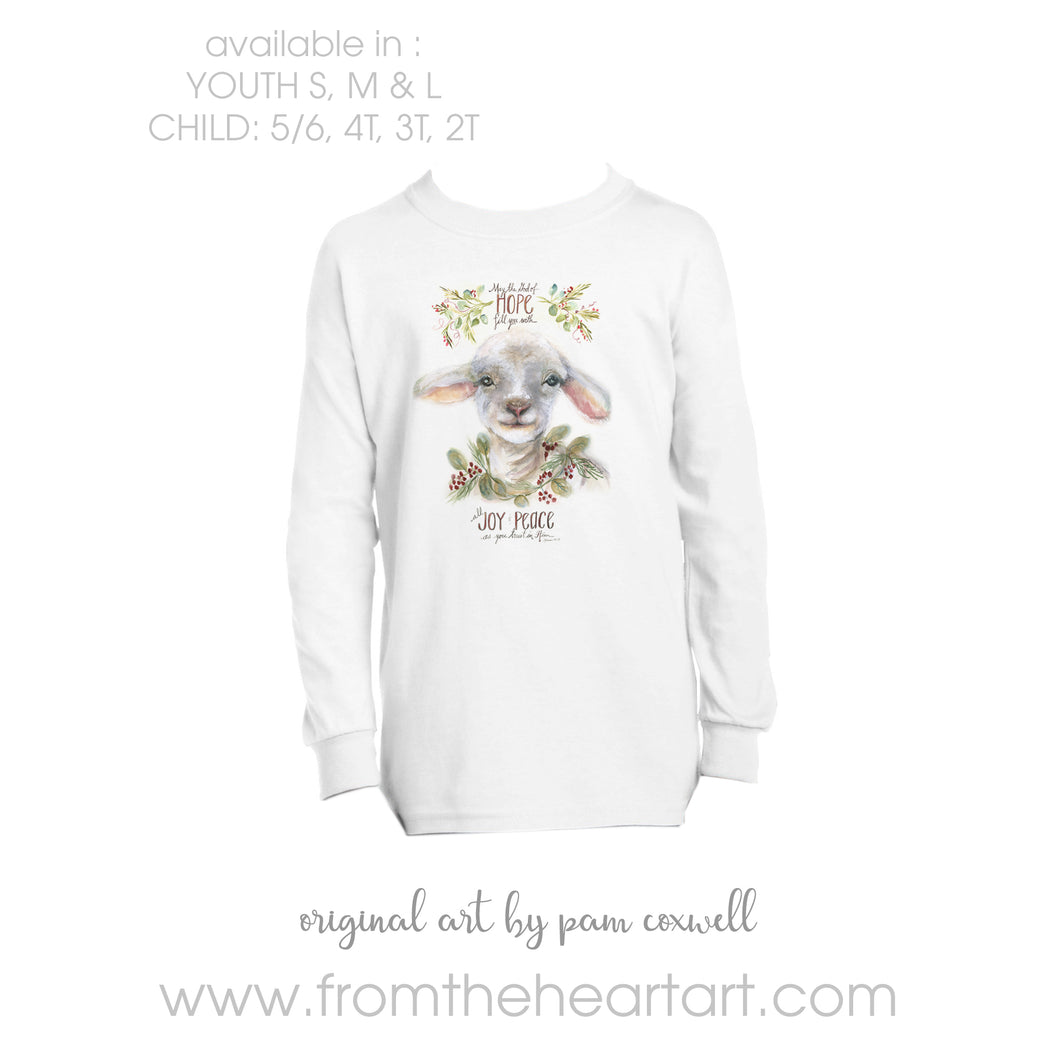 Christmas Lamb Child/Youth T-shirt