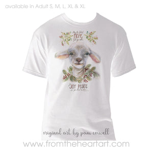 Christmas Lamb Adult T-shirt