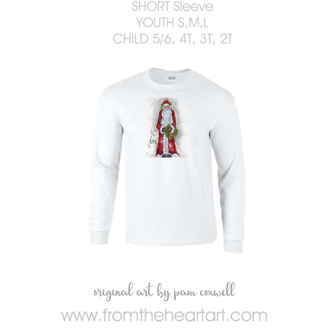 Christmas Santa Love Child/Youth T-shirt