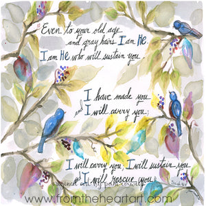 Bluebirds {Isaiah 46} - Notecards