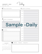 2021 Planner BUNDLE- Planning From The Heart - a 2 Part Daily Planner- Pre Order