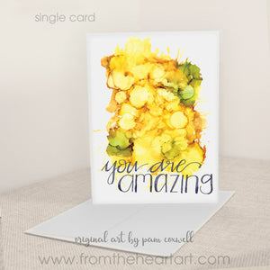 """You Are Amazing"" - Notecards"