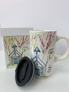 Amazing Grace Chapel - 16 oz. Ceramic Travel Mug with Lid