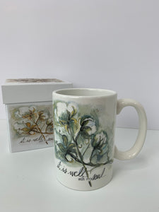 Cotton Boll - 13oz. Ceramic Gift Box Mug