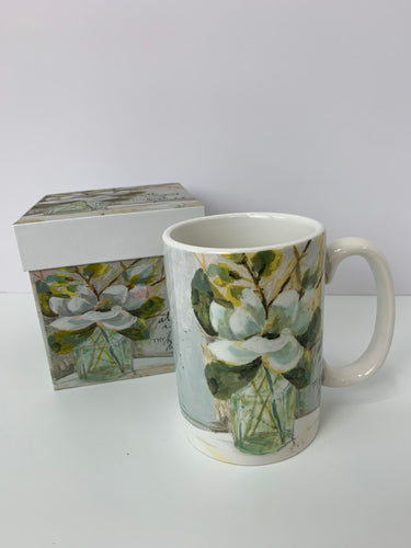 Magnolia and Bottle - 13oz. Ceramic Gift Box Mug