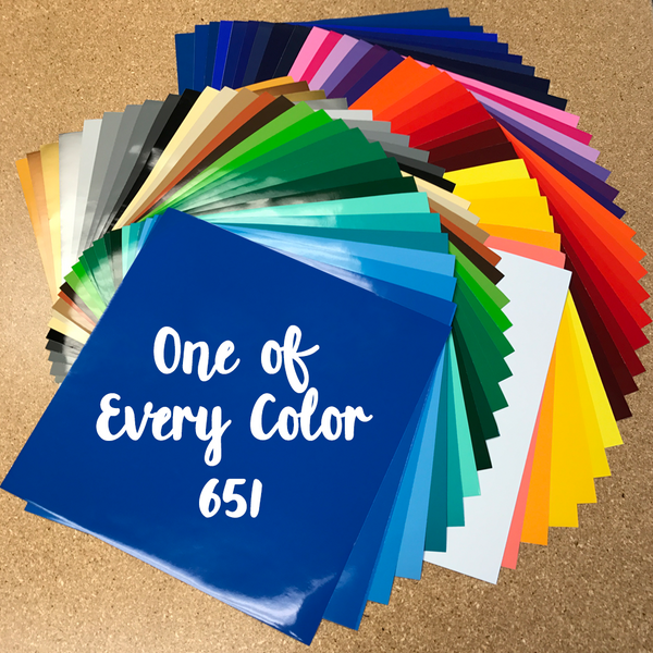 1 Of Every Color Box - Oracal 651