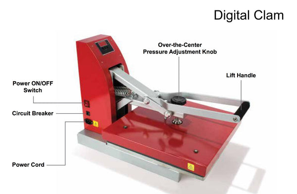Siser Red Heat Press Digital Clam