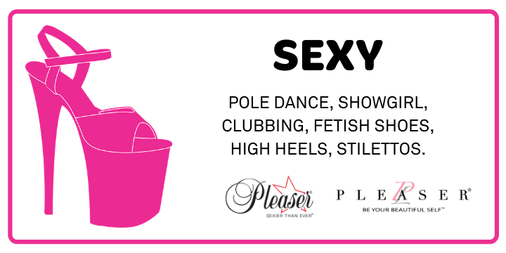 Sexy footwear, pole dancing, exotic dance, stripper shoes, platform sandals, platform boots, high heels, stilettos.