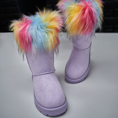 furry snow boot - frozen