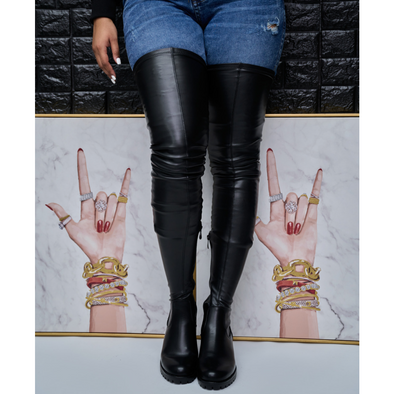 extreme stretch thigh high boot - surgical
